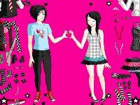 Emo Love Dressup